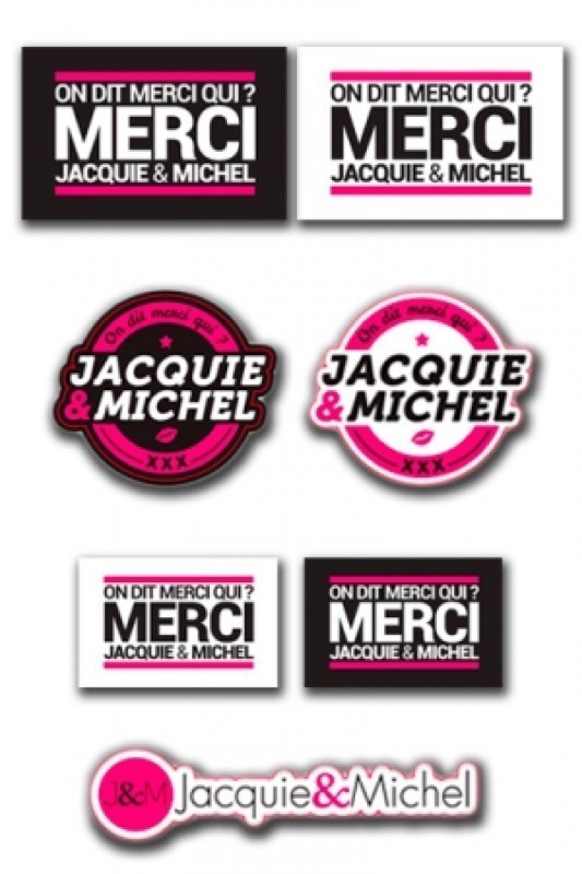 Assortiment 7 stickers J&M - 1