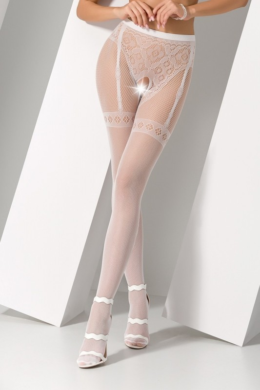 Collants ouverts S012 - Blanc - MyLibido